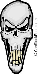 Scary evil skull