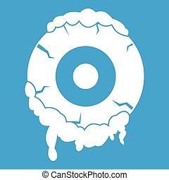 Scary eyeball icon white