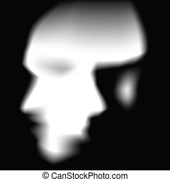 scary face - face silhouette with illustion of 2 faces.