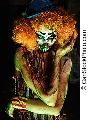 scary female clown