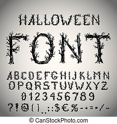 Scary font - Dead forest style hand drawn font, pencil ...