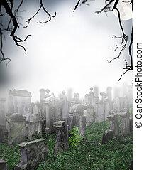 Scary graveyard