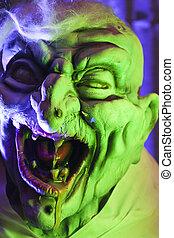 Scary Green Goblin Prop