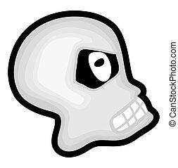 Scary Halloween Angry Skull