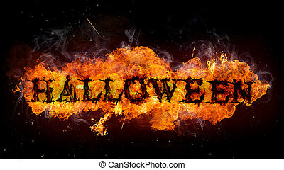 Halloween background - Scary Halloween background with fire ...