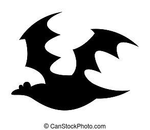 Scary Halloween Bat Flying Shape
