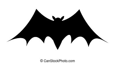 Spooky Horrible Halloween Flying Bat Vector Silhouette