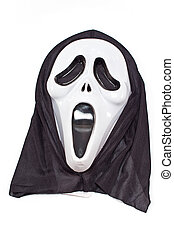 Scary halloween mask isolated on white