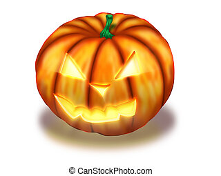 Scary Halloween Pumpkin