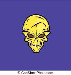 Scary Halloween Skull Face