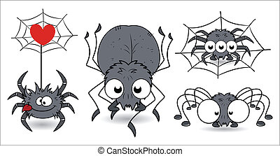 Scary Halloween Spiders