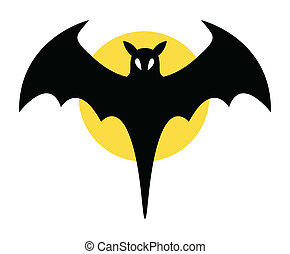 Scary Halloween Vampire Bat Vector - Drawing Art of bat sign...