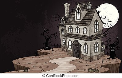 Scary haunted house.