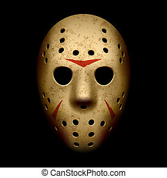Scary hockey mask vector illustration