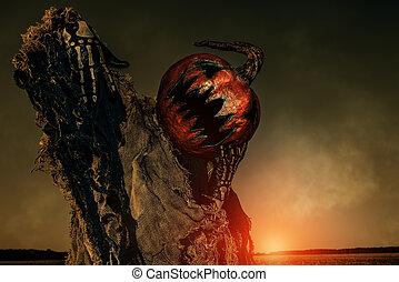scary Jack lantern