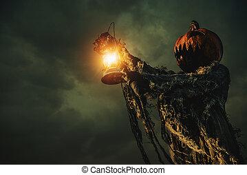 scary man pumpkin
