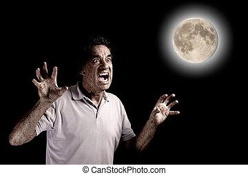 Scary Man Werewolf Beast Halloween