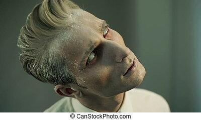 Scary Man Zombie - Portrait of demonic zombie man