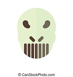 scary mask in flat design for halloween