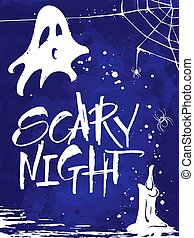 Scary Night Halloween card