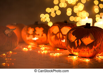 Scary pumpkins for halloween