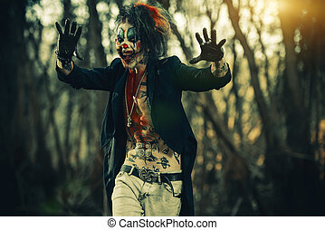 scary punk clown