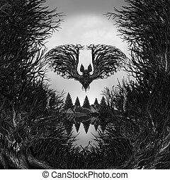 Scary Skull Background - Scary Skull background as a surreal...
