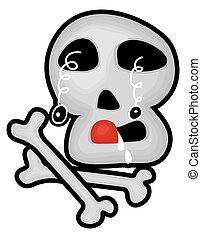 Scary Skull Halloween Graphic