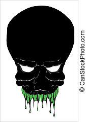 Scary Skull Vector Illustration