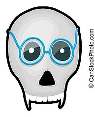 Scary Skull with Specs