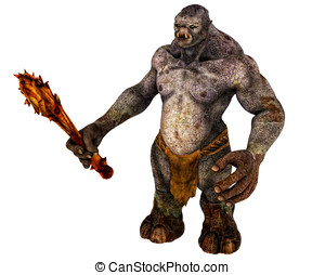 Scary Troll Monster - Scary evil Troll demon with dangerous ...