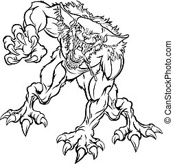Scary Werewolf Monster Character