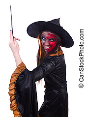 Scary witch in halloween concept