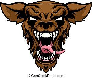 Scary Wolf or Werewolf Mascot