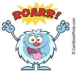 Scary Yeti Cartoon Character