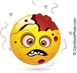 Scary Zombie Halloween Smiley