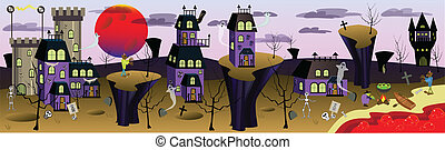 Scaryville - Cute Scary Town Banner