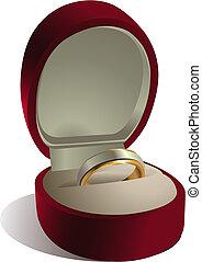 scatola, anello, matrimonio