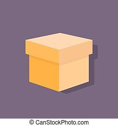 scatola, appartamento, icone, disegno, vettore, uggia,...