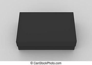 scatola, appartamento, nero, mockup
