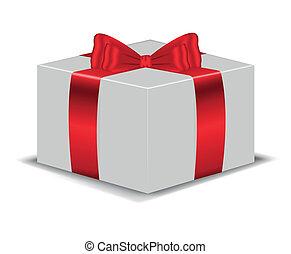 scatola, arco rosso