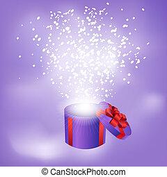 scatola, astratto, regalo, fondo
