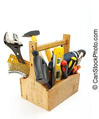 scatola attrezzo legno