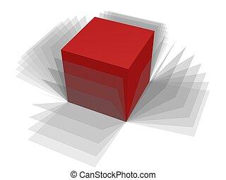 scatola, avvolgere