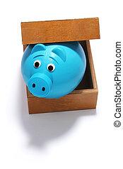 scatola, banca, piggy