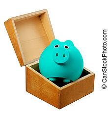 scatola, banca piggy