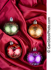 scatola, baubles, natale, ther
