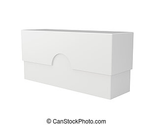 scatola, bianco, cartone, fondo