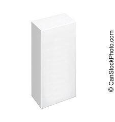 scatola, bianco, isolato, fondo, vuoto