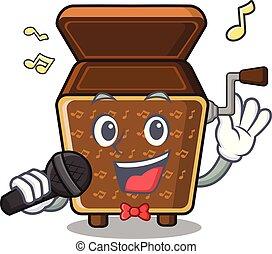 scatola, canto, forma, musica, mascotte